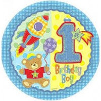 Hugs & Stitches 1st Birthday Boy Foil Balloon