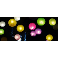 "16"" Paper Lanterns (set of 5)"