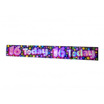 16 Today Foil Banner