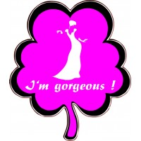 I Am Gorgeous Placard
