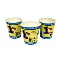1st Birthday Boy Theme Paper Cups