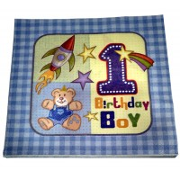 1st Birthday Boy Theme Paper Napkins
