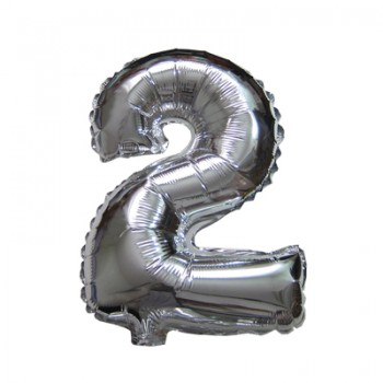 2 Silver Super Shape Balloon 42""