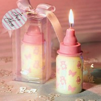 Pink Bottle Scented Candles