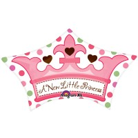 Little Princess Crown Foil Balloon