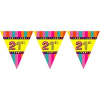21st Birthday Theme Paper Dangler