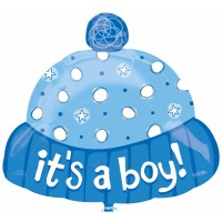 Its A Boy Hat Foil Balloon