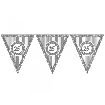 25th Birthday Theme Paper Dangler