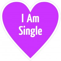 I am Single Placard