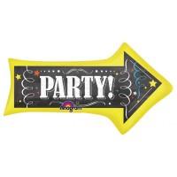 Chalkboard Birthday Arrow SuperShape Balloon