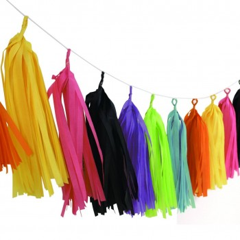 Assorted Color Tassel Garland (Pack of 12 Pcs)