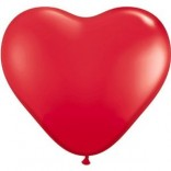 Red Heart Shaped Latex Balloons (Pack of 20)