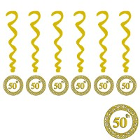 50th Printed Decoration Swirls