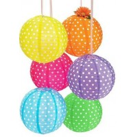 "12"" Polka Dot Paper Lanterns (set of 10)"