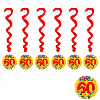 60th Printed Decoration Swirls