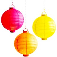 "8"" Battery Paper Lanterns (set of 3)"