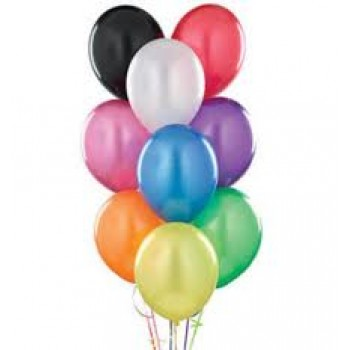Assorted Latex Metallic Multicolor Balloons (Pack of 50 Pcs)