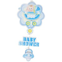 Baby Shower Blue Hanging Banner