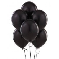 Black Latex Metallic Balloon (Pack of 50 Pcs)