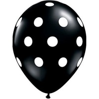Black Polka Dot Balloon (Pack of 10)