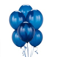 Blue Latex Metallic Balloon (Pack of 50)