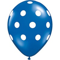 Blue Polka Dot Balloons (Pack of 10)