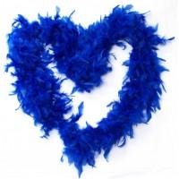 Feather Boa (dark blue)