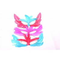 Feather Eye Mask (Assorted Colours)