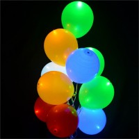 Assorted Color Led Latex Balloons (Pack of 5)
