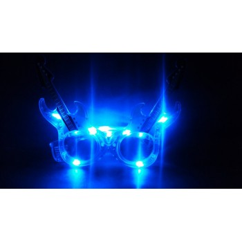 Guitar LED Eye Glasses (Blue)
