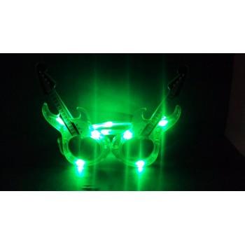 Guitar LED Eye Glasses (Green)