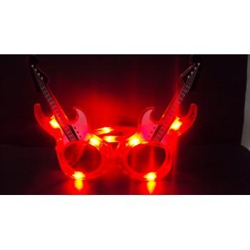 Guitar LED Eye Glasses (Red)