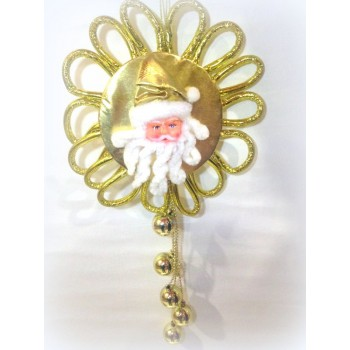 Golden Santa Sun Decor