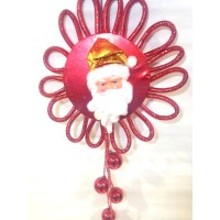 Red Santa Sun Decor