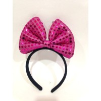 Hot Pink Sequin Hair Band