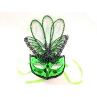 Green Butterfly Plastic Mask