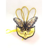 Golden Butterfly Plastic Mask