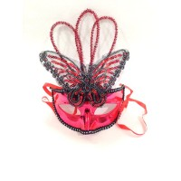 Red Butterfly Plastic Mask