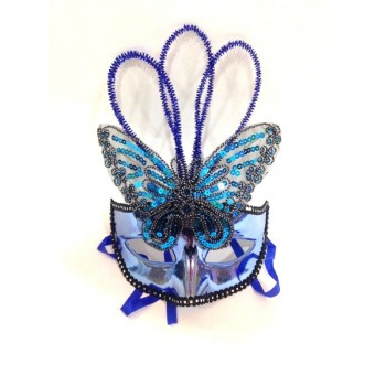 Blue Butterfly Plastic Mask