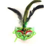 Green Mask With Feather