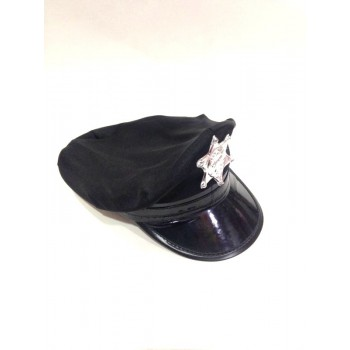 Black Police Party Hat