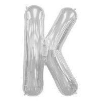K Super Shape Silver Balloon