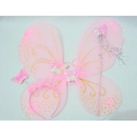 Light Pink Fairy Set(wings,head band and wond)