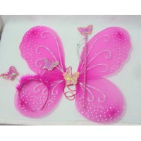 Dark Pink Wings set of 3(wing,wand and head band)
