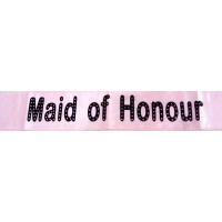Maid of Honour Light Pink Sash