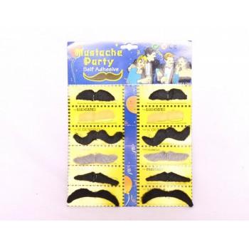Party Moustaches Set of 12