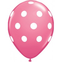 Pink Polka Dot Balloon (Pack of 10)