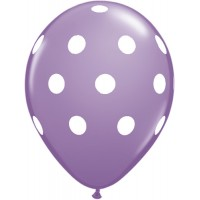 Purple Polka Dot Balloon (Pack of 10)