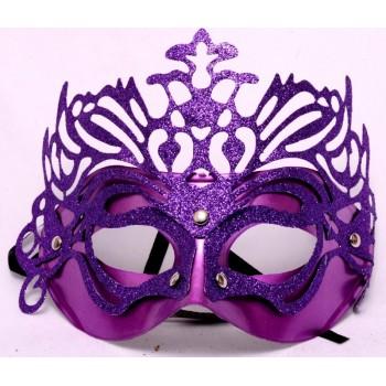 Purple Glitter Eye Mask