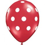Red Polka Dot Balloon (Pack of 10)